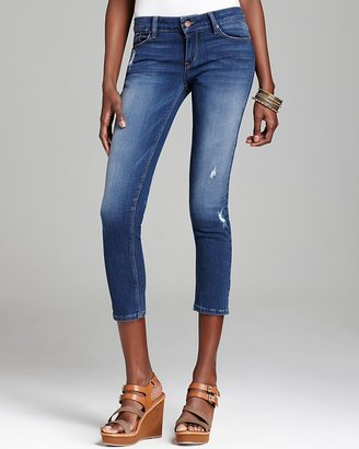 Of the Moment SOLD design lab Jeans - Light Distressed Tech Ankle Skinny