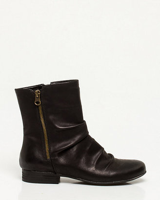 Le Château Faux Leather Ruched Ankle Boot