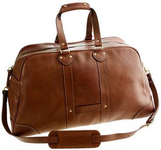 J.Crew Montague leather weekender bag