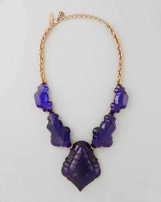 Oscar de la Renta Resin Chandelier Necklace, Dark Purple