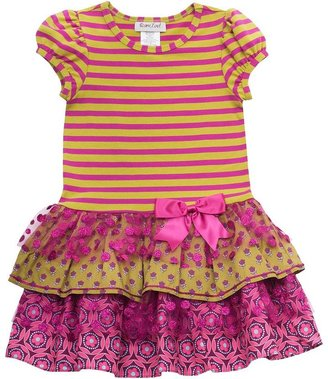 Rare Editions striped tutu dress - girls 4-6x