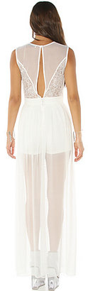 *MKL Collective The Peekaboo Maxi Dress in Off White