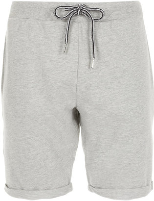 Topman Light Grey Jersey Shorts