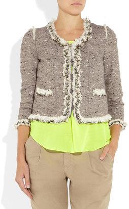 Rebecca Taylor Sequin-trimmed bouclé-tweed jacket