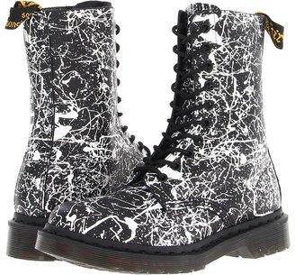 Dr. Martens 1490 10-Eye Boot (Black/White Paint Splatter) - Footwear