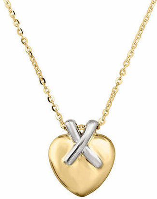 Tag Heuer FINE JEWELLERY 14k Yellow Gold Puffed Heart Pendant Necklace
