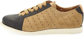 Angela The Office of Scott Mr. Miller Bicolor Perforated Sneaker, Camel