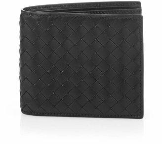 BOTTEGA VENETA Intrecciato bi-fold leather wallet $353 thestylecure.com
