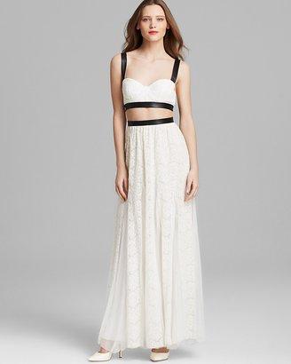 Alice + Olivia Maxi Dress - Sveva Bustier Cutout
