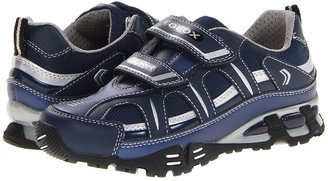 Geox Kids Light Eclipse 14 (Little Kid) (Navy/Silver) Boys Shoes