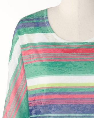 Coldwater Creek Paint stripe top