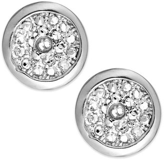 Townsend Victoria Sterling Silver Earrings, Diamond Accent Round Studs