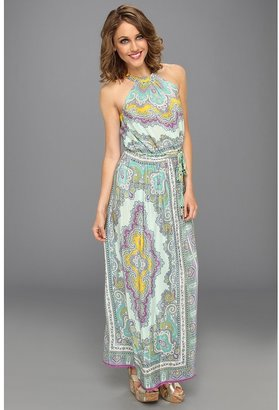 Nanette Lepore Beach Lover Dress (Mint Multi) - Apparel