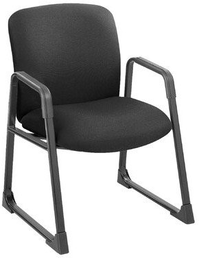 Safco Products Company Safco Big and Tall Series Guest Chair Seat Color: Black