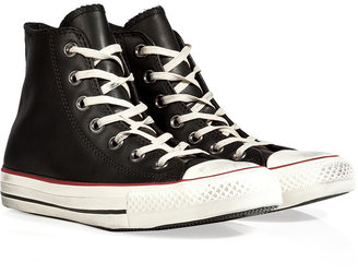 Converse Leather Chuck Taylor All Star Hi Sneakers in Black