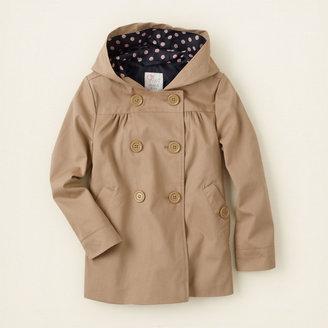 Children's Place Uniform hooded twill jacket