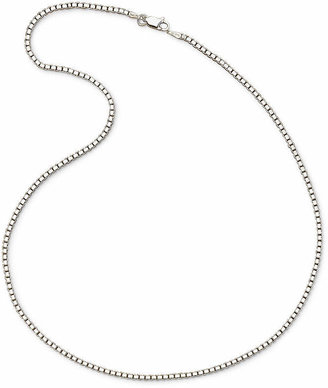 PRIVATE BRAND FINE JEWELRY Made In Italy Sterling Silver 2mm Large Box Chain