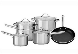 Vue 'Complete 2' Stainless Steel 6 Piece Cookware Set