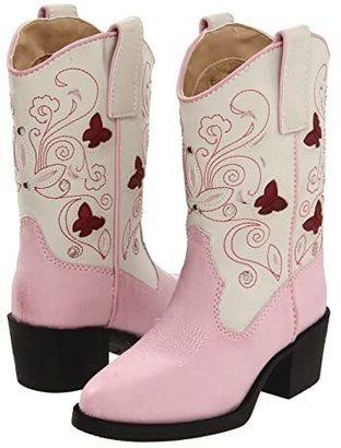 Roper Western Lights Cowboy Boots (Toddler/Little Kid) (Pink) Cowboy Boots