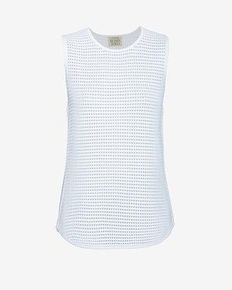 Torn By Ronny Kobo Sleeveless Mesh Knit: White