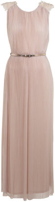 Miss Selfridge Plisse embellished maxi dress