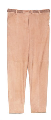 Thakoon Preorder Belted Suede Trousers