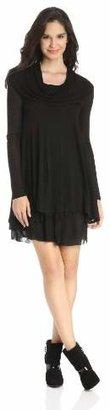 Kensie Women's Long-Sleeve Sheer Dress $78 thestylecure.com