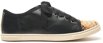 Lanvin Leather and Python Sneaker