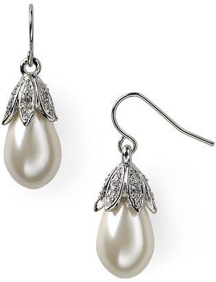 Lauren Ralph Lauren Pearl and Crystal Drop Earrings