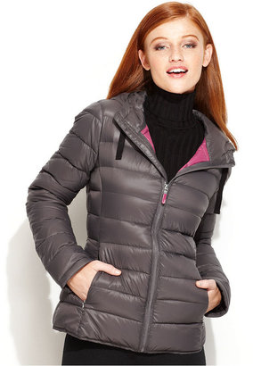 Calvin Klein Jacket, Packable Hooded Seamed Puffer