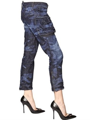 DSquared Cool Girl Camouflage Cotton Denim