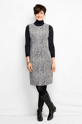 Lands' End Women's Tall Jacquard Welt Pocket Sheath Dress
