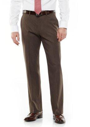 Van Heusen Ultimate Traveler Melange Straight Fit Flat Front Dress Pants