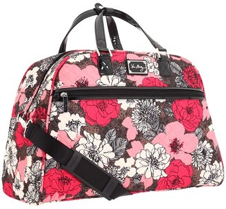 Vera Bradley Luggage - Travel Overnighter (Mocha Rouge) - Bags and Luggage