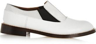 Marni Metallic Leather Loafers