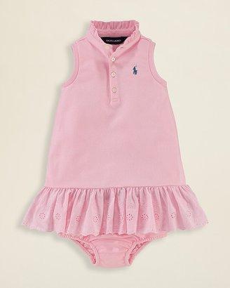 Ralph Lauren Infant Girls' Solid Polo Dress - Sizes 9-24 Months