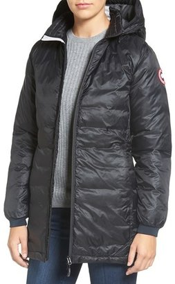 Women's Canada Goose 'Camp' Slim Fit Hooded Packable Down Jacket $575 thestylecure.com