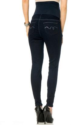 Motherhood Indigo Blue Secret Fit Belly® Rhinestone Trim Skinny Leg Maternity Jeans