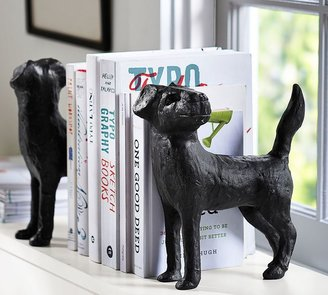 Pottery Barn Dog Bookends, Set of 2