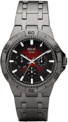 Fossil RELIC BY Relic By Mens Multi-Function Gray Stainless Steel Bracelet Watch-Zr15514
