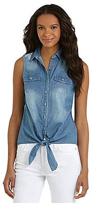 ECI Sleeveless Denim Top