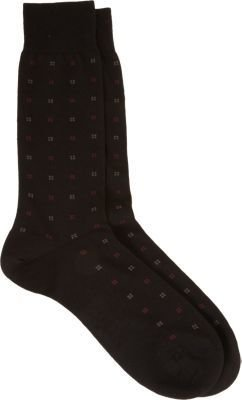Barneys New York Mini Squares Socks