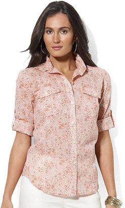 Lauren Ralph Lauren Long-Sleeved Floral Cotton Workshirt