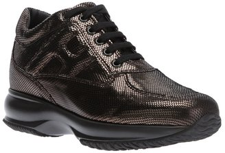 Hogan patterned lace-up sneaker