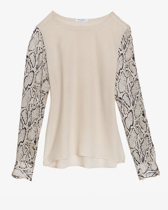 Equipment Liam Silk Python Print Sleeve Blouse