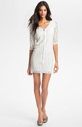 Laundry by Shelli Segal Illusion Sleeve Lace Dress