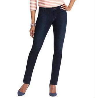 LOFT Tall Supreme Curvy Straight Leg Jeans in Debate Dark Blue