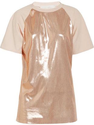 Estéban Paris Cortazar Lamé and stretch-crepe T-shirt