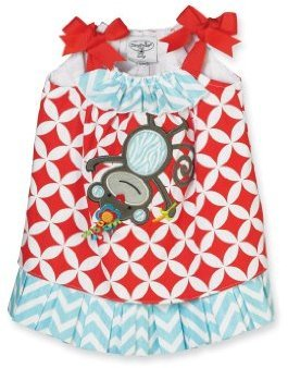 Mud Pie Baby-Girls Newborn Safari Monkey Dress