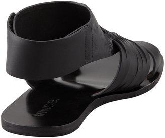 Vince Calista Huarache Thong Slide Sandal, Black